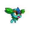 蓝晶绿叶兽